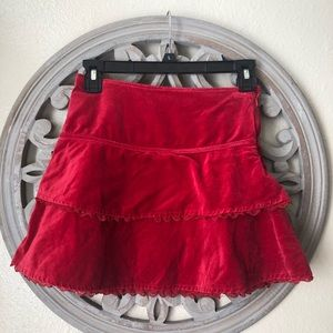Children's places red velvet holiday skirt